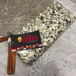 Nahui Ollin candy wrapper clutch bag